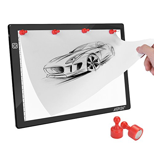 Magnetic A4 LED Artcraft Tracing Light Pad Light Box AGPtEK Stepless brightness control with memory function USB Powered Tatoo Pad Animation,Sketching,Designing,Stenciling X-ray Viewing W/ USB Adapter by AGPTEK