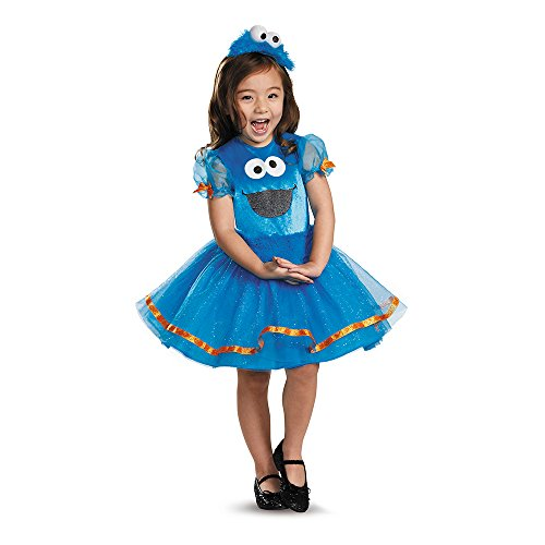 Cookie Tutu Deluxe Costume, Medium (Cookie Monster Halloween Costume For Girls)