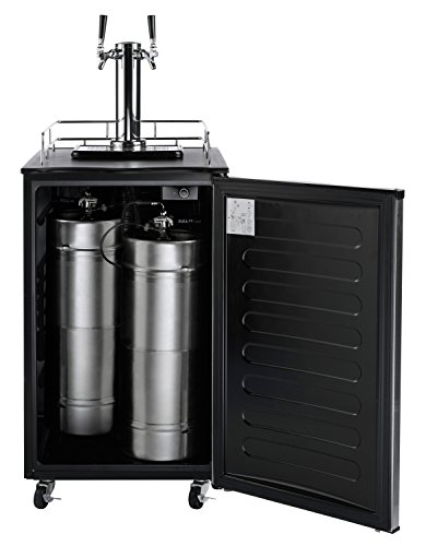 082677020048 - Nostalgia KRS6100SS 6.1 Cubic-Foot Full Size Double Tap Stainless Steel Draft Beer Dispenser carousel main 1