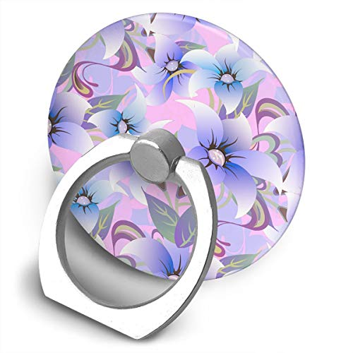Round Finger Ring Cell Phone Holder Lily Pattern