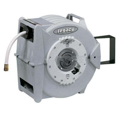 Levelwind Retractable Garden Hose Reel With 5/8'' I.D. X 60' Hose by Legacy Manufacturing