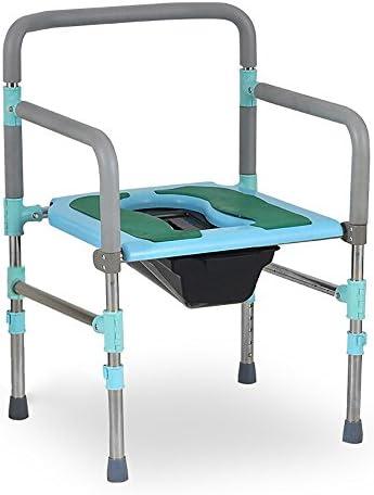 Cqq Badestuhl Bedside Toilette/Edelstahl ältere Schwangere Frau Bad Stuhl/multifunktionale Stuhl/es kann Sich bewegen Höhe anpassen WC-Sitz Bad Stuhl