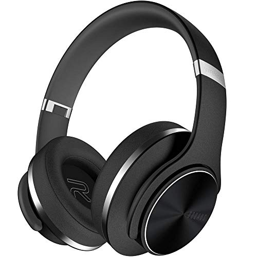 (Wireless Bluetooth Headphones Over Ear, DOQAUS 35 Hours Playtime Hi-Fi Stereo Foldable Headset, Wired Mode, Built-in Mic, Hands-Free Calling, Comfortable Earmuffs for Cellphone Tablet Computer PC TV)
