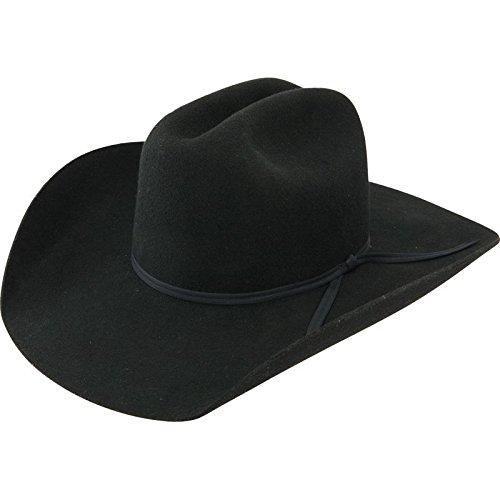 (Resistol Boys Crossroads Jr Felt Cowboy Hat One Size Fits Size 7 & Smaller Black )