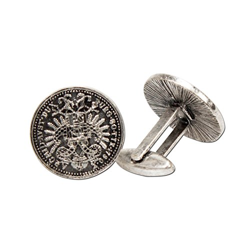 Alpenflüstern Herren Manschettenknöpfe Trachten-Münzen altsilber-farben API03700095