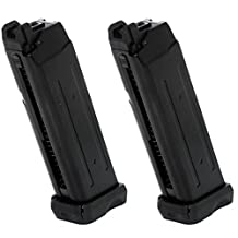 Airsoft Gear Parts Accessories APS 2pcs 23rd Co2 Mag Magazine for D-Mod Pistol Airsoft Black