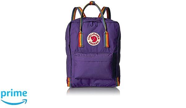 FJÄLLRÄVEN Kånken Mochila, Unisex Adulto, (Purple/Rainbow Pattern), Talla única: Amazon.es: Deportes y aire libre