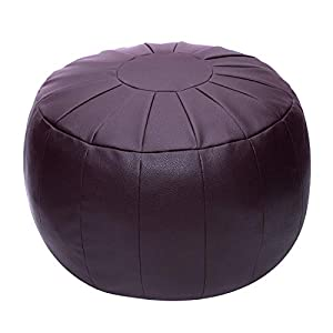 Rotot Decorative Pouf, Ottoman, Bean Bag Chair, Footstool, Foot Rest, Storage Solution or Wedding Gifts (Unstuffed)