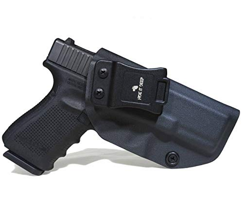 Hide It Deep IWB KYDEX Holster Fits: Glock 19/Glock 19x/Glock 23/Glock 32/Glock 45 (Gen 1-5) - Concealed Carry Holster (Black, Right Hand Draw)