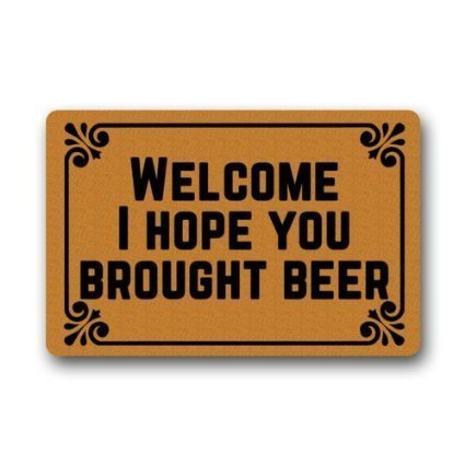 Custom I Hope You Brought Beer Non-woven Fabric Doormat,Indoor/Outdoor Floor Mat( 23.6 X 15.7 Inch) Decor Mat