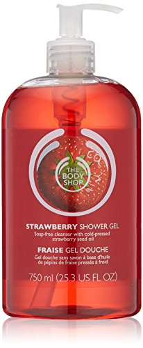 The Body Shop Strawberry Shower Gel Jumbo, 25.3 Fluid Ounces (Packaging May Vary)