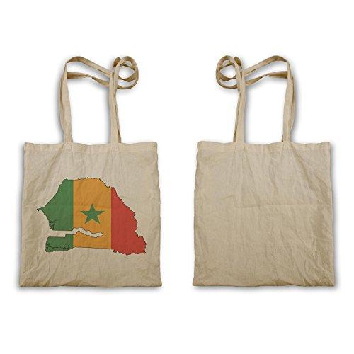 Neue Senegal Flagge Weltkarte Kunst Tragetasche i650r
