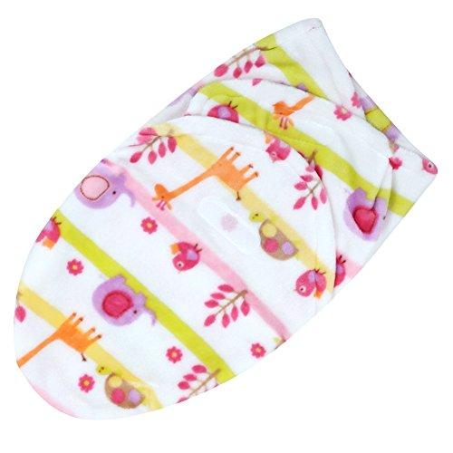 (Easydeal Soft Coral Velvet Newborn Baby Receiving Blanket Wrap Swaddle Sleeping Bag)