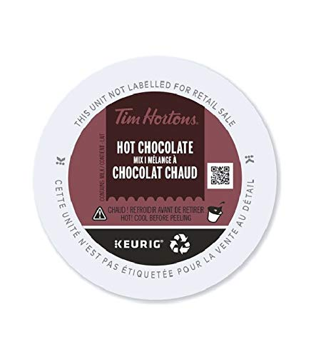 Tim Hortons Hot Chocolate, Single Serve Keurig Certified K-Cup Pods for Keurig Brewers, 10 Count