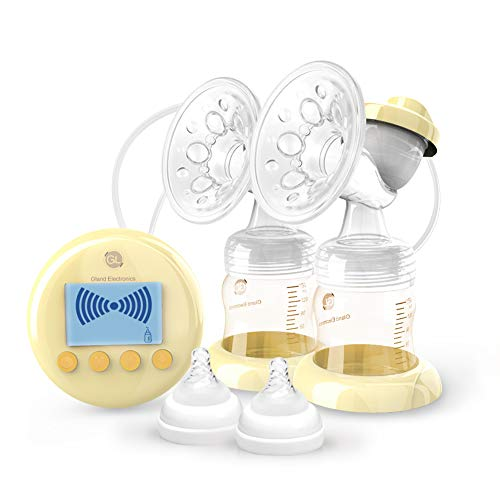 Double Electric Breast Pump,Comfort Breastfeeding Breast Pump Dual with HD LCD Display,Ultra-Quiet and USB Charging, 9 Levels Massage Suction, Germany Imported PPSU Safe Material -CE and FDA Approved