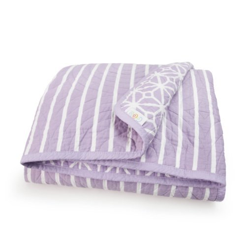 CoCaLo Mix & Match Trellis/Candy Stripe Coverlet, Violet