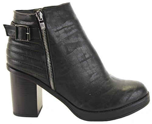 8 D'hiver Niveau 8 Chaussettes Femmes Chelsea Taille Noir Bloc Haut Bottes Suprieur Plateforme 3 Style FUwP8