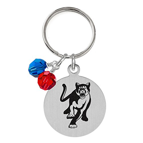 Columbus Jewelry - Columbus State Cougars Dog Tag with Crystals | Pet Tag | Small Size | Cat Tag | College Pet Tags