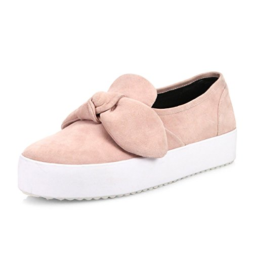 Rebecca Minkoff Women's Stacey Suede Sneakers, Pale Pink, 8.5 B(M) US