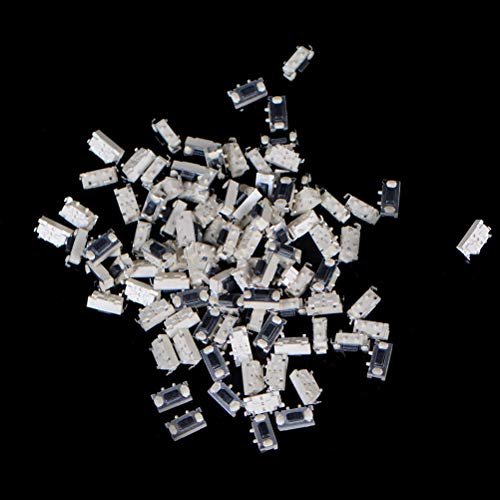 Cacys-Store - 100pcs Touch Micro Switch 3X6X2.5MM 3x6x2.5 SMD White Button Head