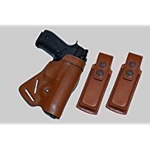 ALIS711202 Small of Back Leather Holster & Two Single Mag Pouches Fits Colt 1911 RH Handmade!