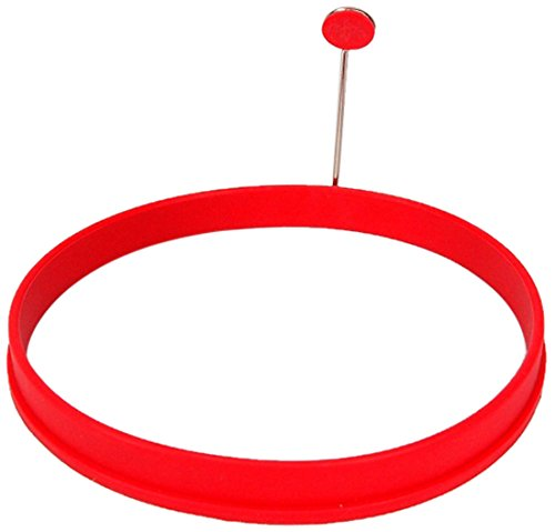Chef Pro Silicone Pancake Ring, 6-Inch, Red