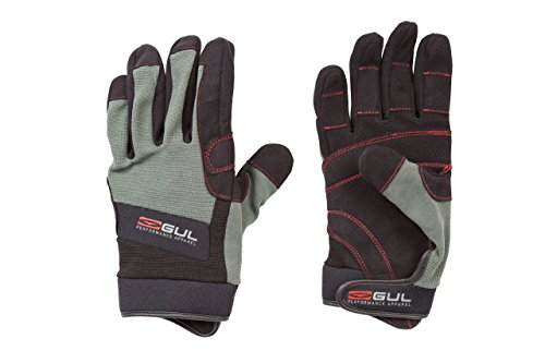 Gul Adult Summer Full Finger Glove - Black/Charcoal
