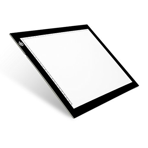 NXENTC A4 Tracing Light Pad, Ultra-thin Tracing Light Box USB Power Artcraft Tracing Light Table for Artists, Drawing, Sketching, Animation]()