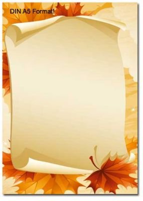 Briefpapier Herbstblätter Din A5 Format 100 Blatt Amazonde
