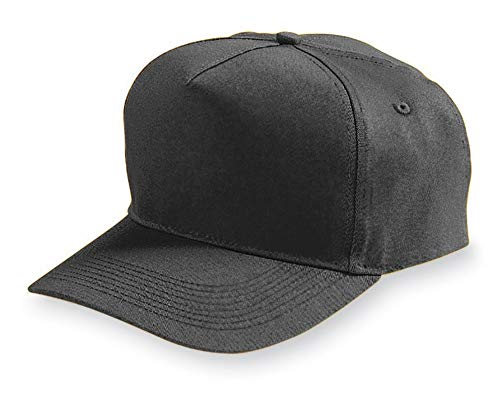 (Augusta Sportswear Adult Five Panel Cotton Twill Cap OS Black)