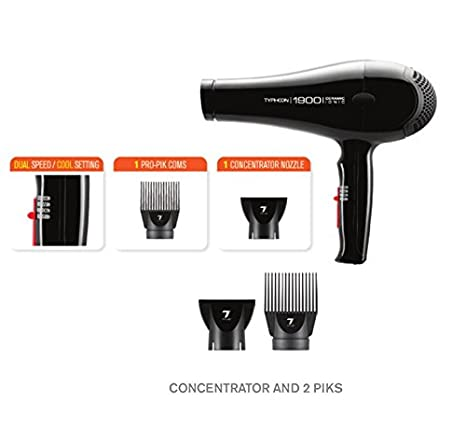 Amazon.com: Tyche 2200 Ionic Turbo Professional Hair Dryer, functional design, dual speed, lightweight, durable, dc motor, performance motor, power, ...