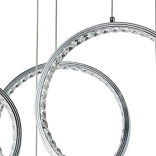 LIGHT BYJUM Anillo Minimalista Moderno araña de Cristal LED lámpara de Aluminio Redonda 3 Cabeza 110-240V