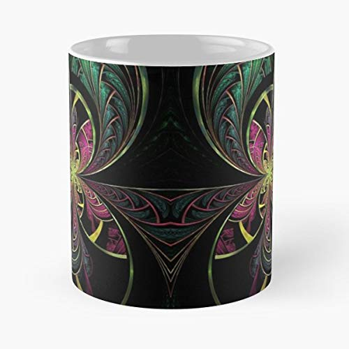 Fractal Rainbow Psy Trance 11 Oz Coffee Mugs Best Gift For Father Day