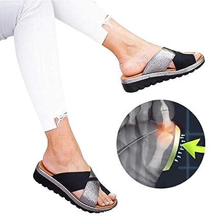 W&TT Zapatos Sandalias de Mujer Cómodos Plataforma, Sandalias Chanclas Verano Zapatos de Punta Abierta con