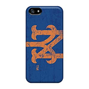Best Hard Phone Cover For Iphone 5/5s (Tjs12747bsws) Customized Realistic New York Mets Image