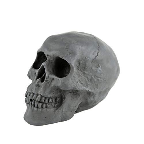 Myard Fireproof Imitated Human Fire Pit Skull Gas Log for NG, LP Wood Fireplace, Firepit, Campfire, Halloween Decor, BBQ (Black...