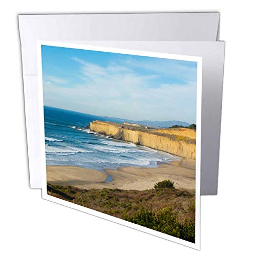 3dRose Danita Delimont - California - Pacific Coast Highway 1, California, Near Carmel Cliffs and Waves - 6 Greeting Cards with envelopes (gc_314601_1) ()