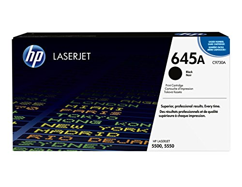 HP 645A (C9730A) Black Toner Cartridge for HP Color LaserJet 5500 5550