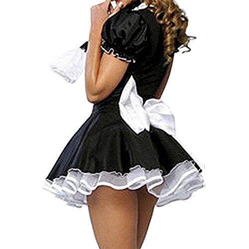 M_Eshop Women Sexy Maid Lingerie French Maid Costume Halloween Fancy Dress (M)