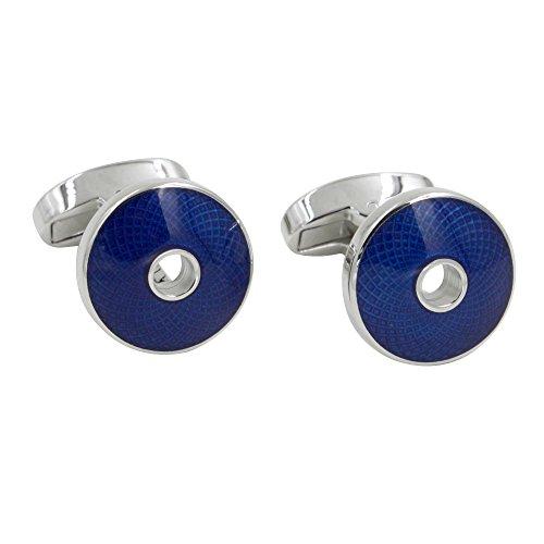 Sapphire Navy Blue Cufflinks | 5 Year Warranty | Cufflinks Box Inc | Premium Cuff Links | Gift for Men (Cufflinks Sapphire Blue)