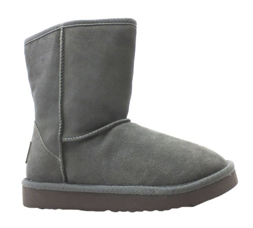 Hey Dude Alpe - Botas de ante para mujer gris gris