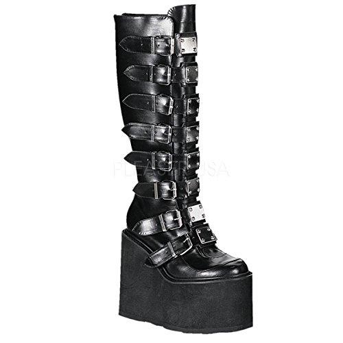 Pleaser Women's Swing-815 Knee-High Boot,Black Polyurethane,8 M US