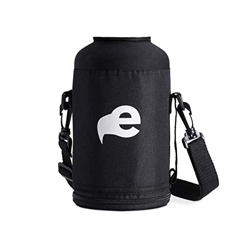 eegl 64 oz Water Bottle Carry Case - Fits Hydroflask Growlers and Other Brands (Bottle Not Included) Nylon Sleeve with Shoulder Strap ()