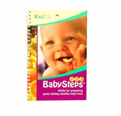 """Kidco """"Baby Steps"""" Baby Feeding Instruction Book for Preparing Healthy Baby Food"""