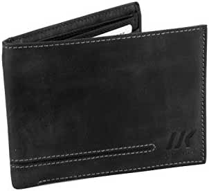 Wallet man LUMBERJACK black in leather pocket extractable cards holder A5657