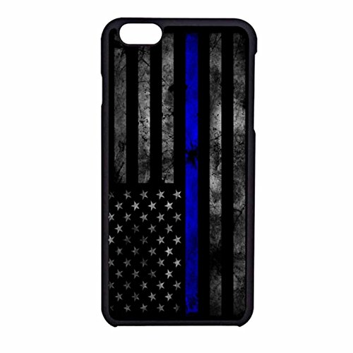 Cell World -Thin Blue Line-For Apple iPod Touch 6, 6th Generation, Made and shipped from the USA Style 196