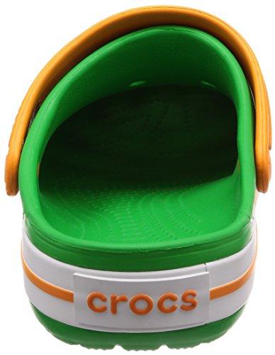 Crocband Clogs White Green Unisex Blz Croslite Crocs Orange Grass gqHp55W