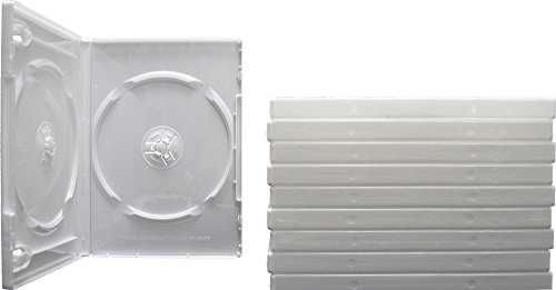 Wrap Online - Square Deal Online - DV2R14WH - DVD Cases - 2 Disc - 14mm - with Wrap Around Sleeve - White (10-Pack)