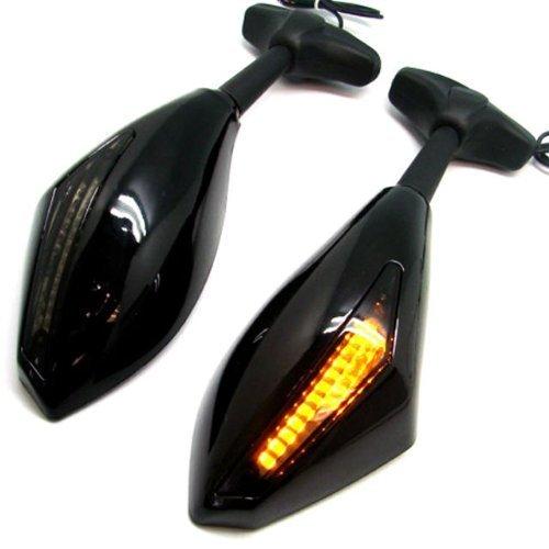 WASTUOMiroirs de moto avec clignotants de fum/ée orange Objectif Led Clignotant Indicateur Side Marker R/étroviseur int/égr/é