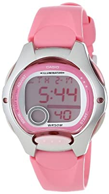 Casio Women's LW200-4BV Digital Pink Resin Strap Watch